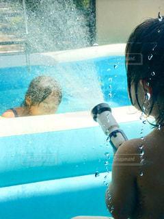 プール,シャワー,姉妹,狙い撃ち,熱中症,予防