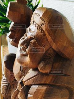 木彫りの大黒様の写真・画像素材[1386729]