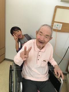 ひいじいちゃんと一緒に‼️の写真・画像素材[1451150]