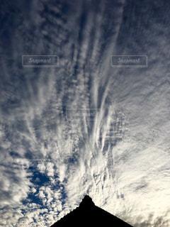 空,秋,屋外,雲,家,屋根,うろこ雲