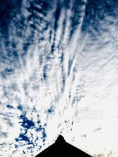 空,屋外,白,雲,家,屋根,ホワイト,伸びる