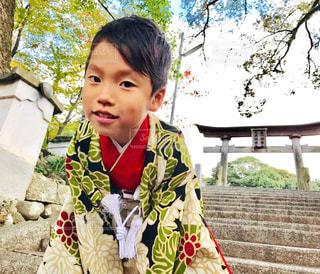 5歳の七五三の写真・画像素材[1713097]