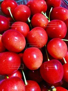 食べ物,赤,果物,さくらんぼ,小さい,丸,甘い,新鮮,丸い,チェリー,複数,甘酸っぱい