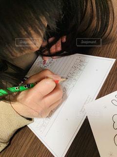 女の子,手紙,人,鉛筆,人間,感謝,便箋