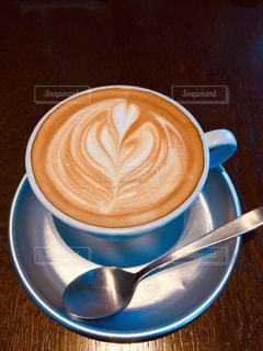 コーヒー,茶色,アート,テーブル,ハート,カップ,ベージュ,ブラウン,メッキ,ミルクティーカラー