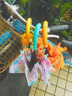 自転車,雨,傘,水,水滴,濡れる,野外,しずく,複数