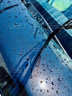 水,黒,車,水滴,濡れる,野外,しずく,ワイパー,洗車,ボンネット