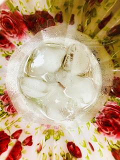 水,室内,水滴,氷,コップ,炭酸,しずく,飲料,お盆,多色