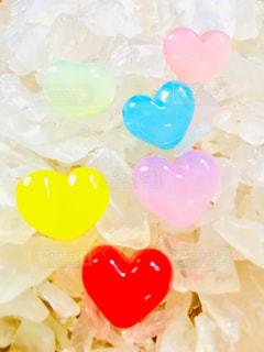 カラフル,ハート,石,水晶,ビーズ,多色,さざれ