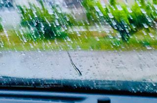 雨,車,車内,ガラス,しずく,雨の日,大雨