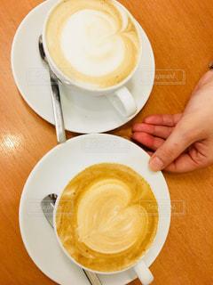 コーヒー,かわいい,室内,手,アート,スプーン,ハート,机,人,デスク,人間