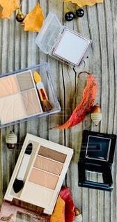 秋,枯れ葉,室内,ベンチ,落ち葉,美容,コスメ,化粧品,ドングリ,アイシャドー