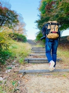 緩やかな階段なんだけど💦の写真・画像素材[2747557]