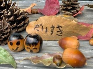 秋のお便りの写真・画像素材[3881740]