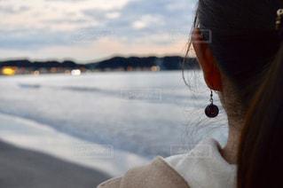 冬の由比ヶ浜の写真・画像素材[1673543]