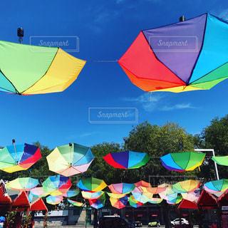 傘,カラフル,梅雨