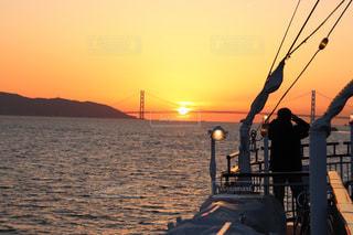 夕日,夕方,オレンジ,夕陽,神戸,明石海峡大橋,クルーズ,インスタ映え