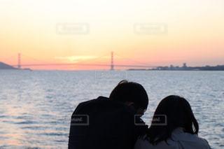 空,夕日,カップル,夕方,オレンジ,夕陽,神戸,明石海峡大橋,クルーズ,インスタ映え