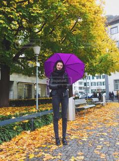 雨の日の散歩の写真・画像素材[1226594]