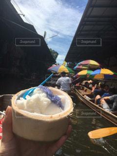 アイス,タイ,ココナッツ,水上マーケット