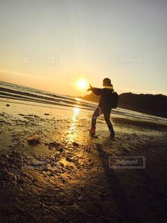 風景,海,空,夕日,砂浜,夕焼け,景色,江ノ島,鎌倉,由比ヶ浜