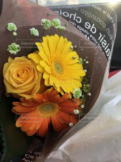 花束,黄色,バラ,可愛い,思い出,卒業,旅立ち,ガーベラ