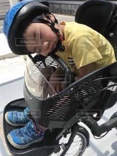 自転車で爆睡の写真・画像素材[1179688]