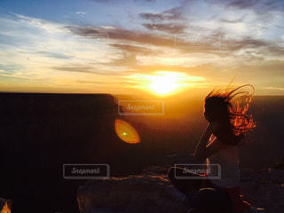空,夕日,海外,旅行,ラスベガス,グランドキャニオン,お出かけ,インスタ映え,写真素材