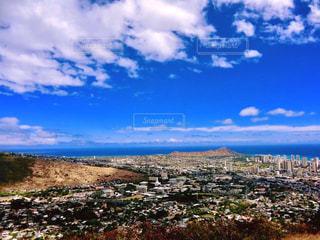 ハワイ オアフ島 タンタラスの丘からの景色。の写真・画像素材[1197259]