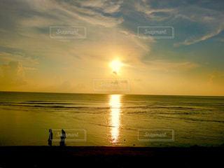 海,夕日,グアム島,ガンビーチ