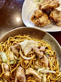 食べ物,唐揚げ,食,焼きそば,食欲,味噌,食欲の秋,鳥の唐揚げ,ひるぜん焼きそば