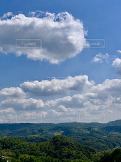 自然,風景,空,秋,雲,山,旅行,高原,山並み,秋空,日中,フォトジェニック,ひつじ雲,インスタ映え