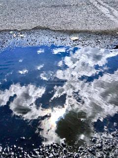 水たまりの写真・画像素材[1687073]