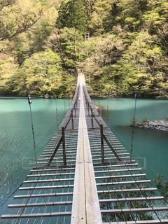 水の体の上の橋の写真・画像素材[1182669]