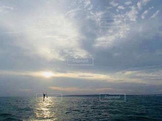 宮古島の空と海とサンセットの写真・画像素材[1429100]