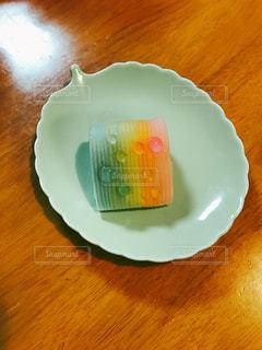 和菓子,レインボー,水玉