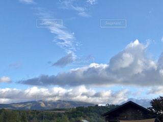 風景,秋,紅葉,雲,秋空,陽ざし,秋のキャンプ,群馬県吾妻郡嬬恋村