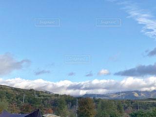 風景,空,秋,紅葉,雲,秋空,陽ざし,秋のキャンプ,群馬県吾妻郡嬬恋村