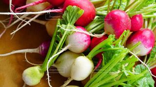 食べ物,葉っぱ,鮮やか,まな板,色とりどり,野菜,食品,新鮮,大根,食材,フレッシュ,生野菜,ベジタブル,栄養,二十日大根,ハツカダイコン,とれたて野菜