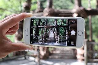携帯電話を持つ手の写真・画像素材[1431938]