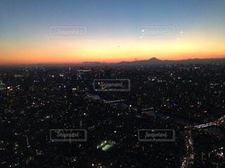 夕日,富士山,東京,夕焼け,スカイツリー,日本