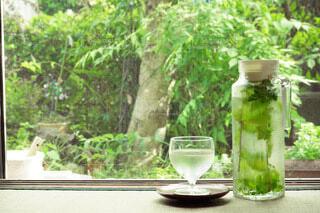 ミント水で味わう夏の涼の写真・画像素材[4710093]