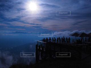 夕方の雲海の写真・画像素材[1685693]