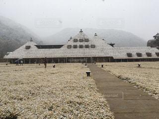クラブハリエ、ラコリーナ近江八幡の雪景色の写真・画像素材[1732712]