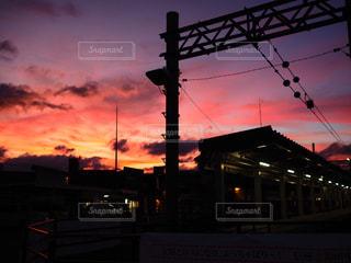 とある日の夕焼けの写真・画像素材[1808321]