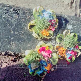 近くの花のアップの写真・画像素材[1829475]