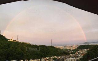 空に虹の写真・画像素材[1194173]