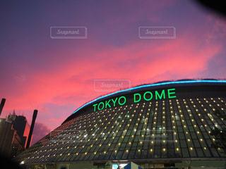 東京,夕焼け,夕暮れ,景色,ドーム,野球,東京ドーム,野球場,baseball