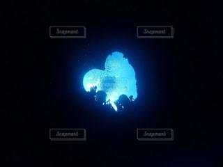 トラフィックの光が暗闇の中で座っています。の写真・画像素材[1206142]