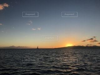 空,夕日,景色,ハワイ,ホノルル,サンセットクルーズ,フォトジェニック